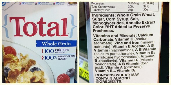 What's in your cereal on 100 Days of Real Food - Total