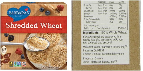 Whats in Your Cereal on 100 Days of Real Food - Shredded Wheat