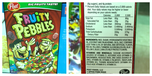 What's in Your Cereal on 100 Days of #RealFood - Fruity Pebbles