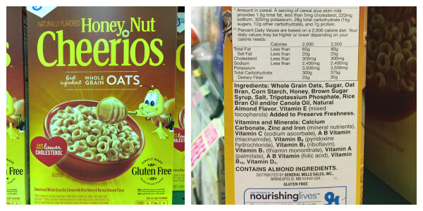 What's in Your Cereal on 100 Days of #RealFood - Honey Nut Cheerios
