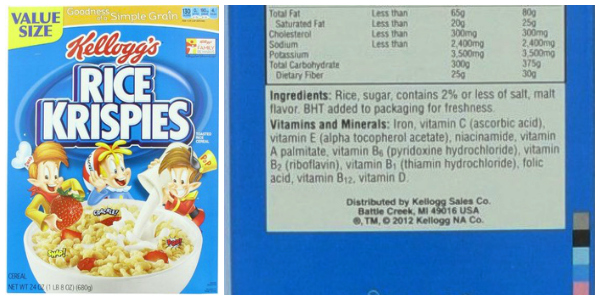 What's in Your Cereal on 100 Days of #RealFood - Rice Krispies