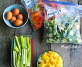 How Prep Food for the Week on 100 Days of #RealFood