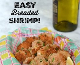 Easy Breaded Shrimp on 100 Days of Real Food