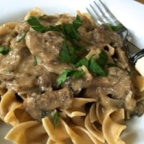 Beef Stroganoff on 100 Days of Real Food