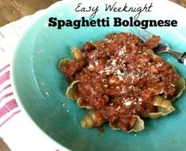 Weeknight Bolognese on 100 Days of Real Food