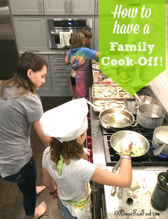 Cook-Off with Blue Apron on 100 Days of Real Food