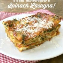 The Easiest Spinach Lasagna 3