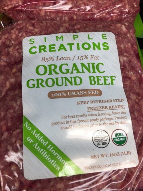 grassfed organic beef at Walmart on 100 Days of Real Food