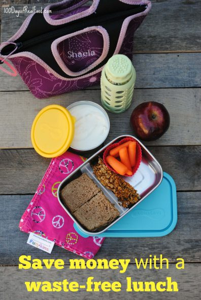 A Waste-Free Lunch Will Save You Money! on 100 Days of Real Food