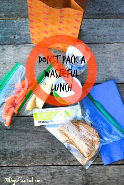 Reusable lunches will save you money on 100 Days of Real Food
