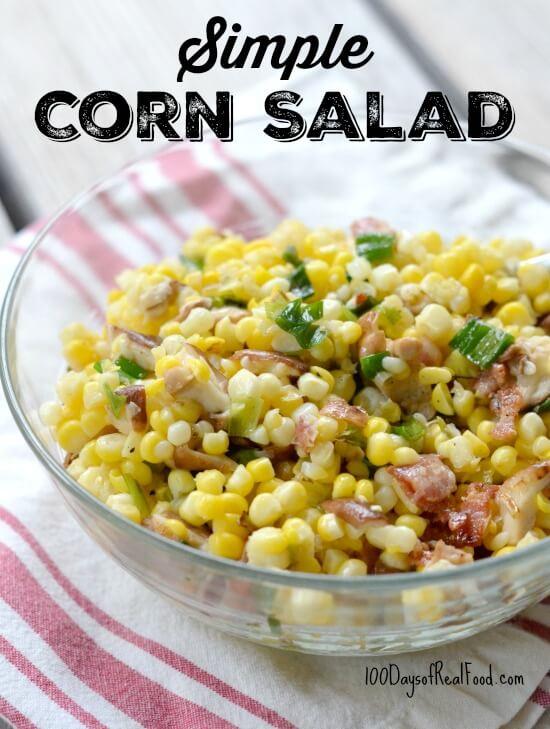 Simple Corn Salad on 100 Days of Real Food