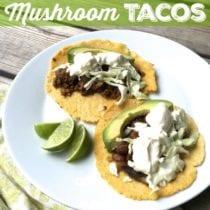 Meat and Mushroom Tacos