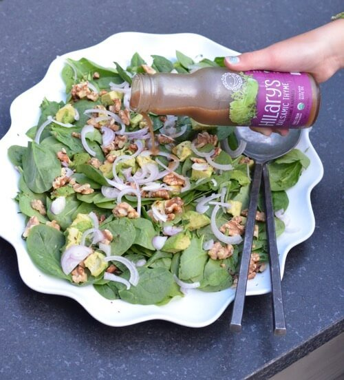 Spinach Salad with Walnuts and Thyme on 100 Days of Real Food