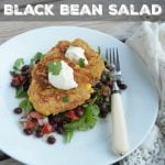 Tex-Mex Corn Fritters and Black Bean Salad on 100 Days of Real Food
