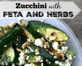Zucchini with Feta and Herbs on 100 Days of Real Food