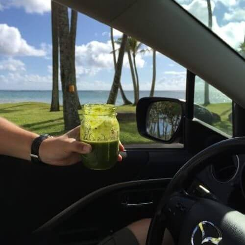 How to Stay Healthy When Traveling: Green Smoothies on the Go on 100 Days of Real Food