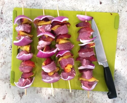 Pork and Peach Kabobs with Teriyaki Glaze on 100 Days of Real Food