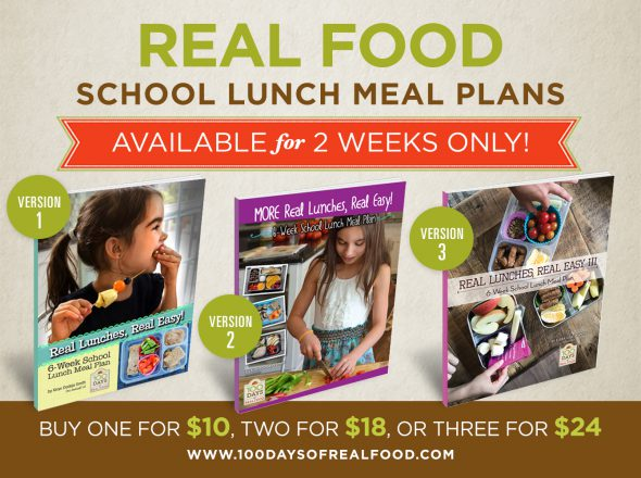 Real Food School Lunch Meal Plans