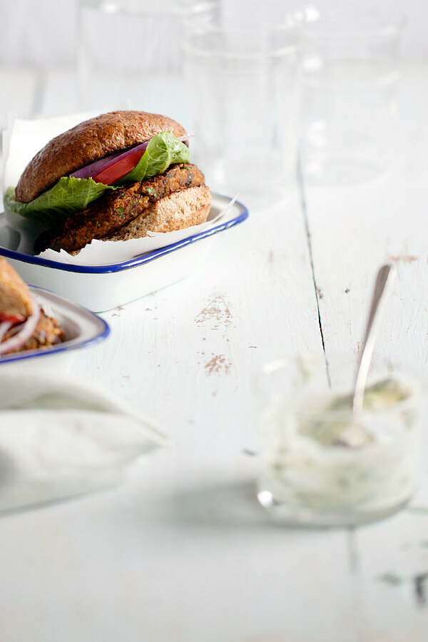 Loaded Black Bean Burgers Recipe by Andie Mitchell on 100 Days of Real Food