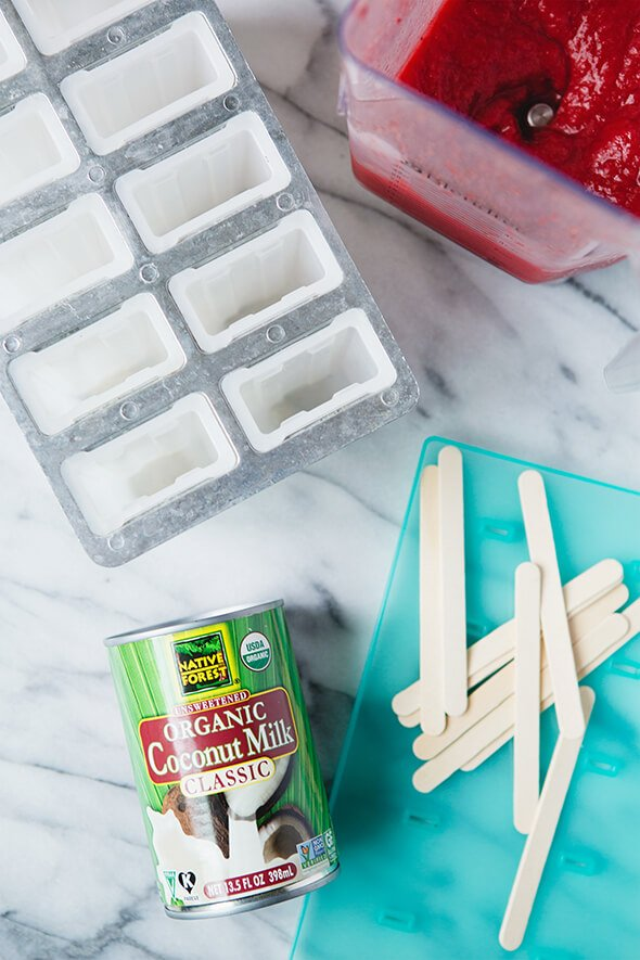 Strawberries and Coconut Cream Pops on 100 Days of Real Food