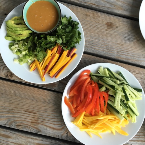 No-Cook Veggie Spring Rolls on 100 Days of Real Food