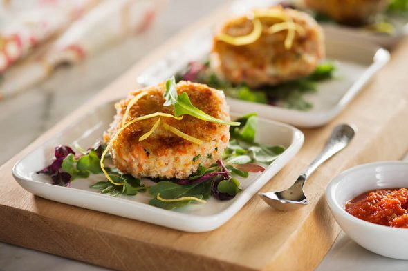 Salmon Cakes - Easy Salmon Recipe Contest + Giveaway on 100 Days of Real Food