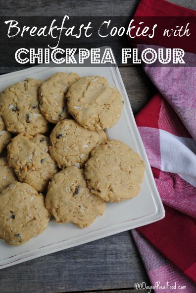 Breakfast Cookies with Chickpea Flour on 100 Days of Real Food