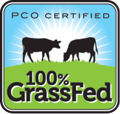 Grassfed PCO certification Logo on 100 Days of Real Food