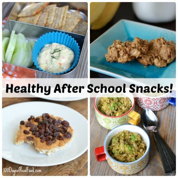 Healthy After School Snacks on 100 Days of Real Food