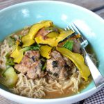 Japanese Meatball and Ramen Bowl on 100 Days of Real Food