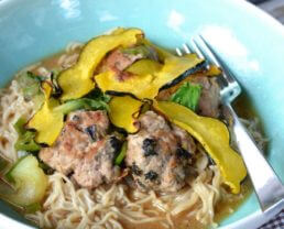 Japanese Meatball & Ramen Noodle Bowls (courtesy of Blue Apron)
