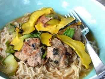 Japanese Meatball & Ramen Noodle Bowls
