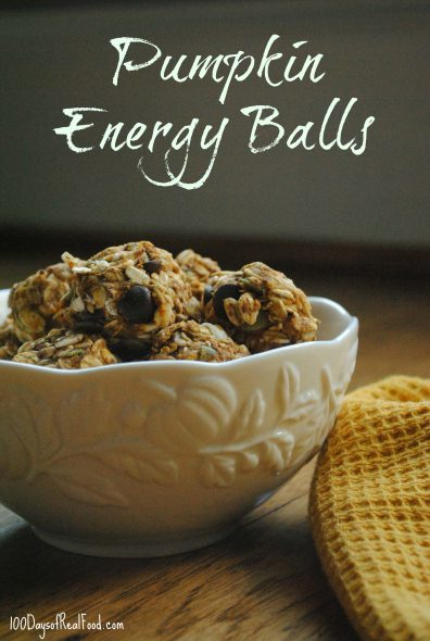 Real Food for Halloween Parties + Pumpkin Energy Balls on 100 Days of Real Food