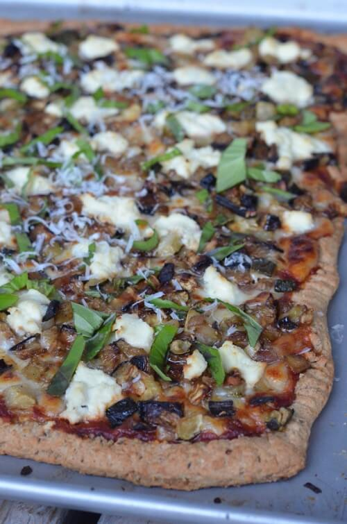 Roasted Veggie and Ricotta Pizza on 100 Days of Real Food
