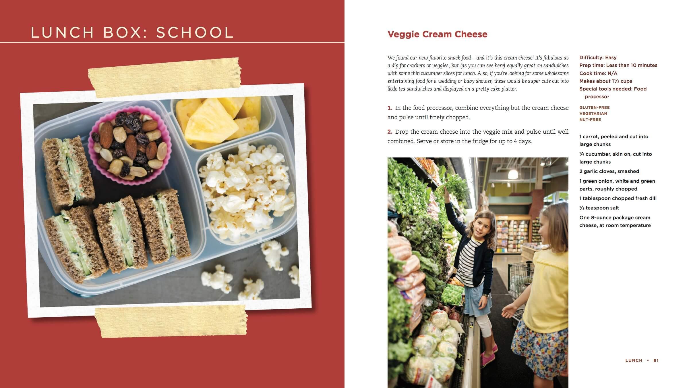 100 Days of Real Food new cookbook recipe - Veggie Cream Cheese Dip