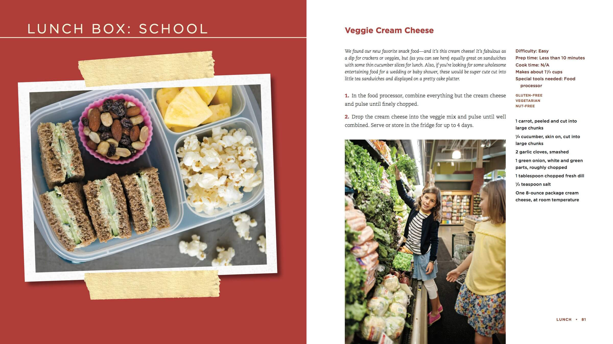 100 Days of Real Food new cookbook recipe - Veggie Cream Cheese Dip