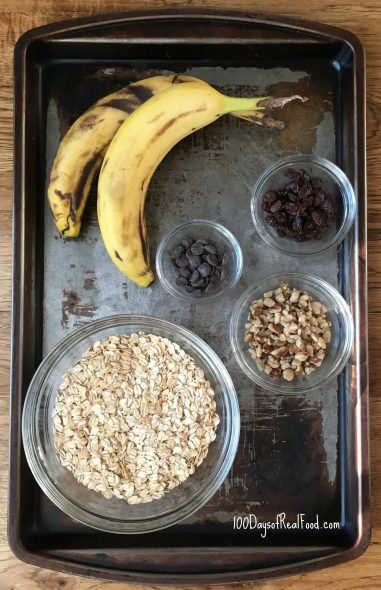 Banana Oatmeal Cookies with Black Walnuts on 100 Days of Real Food