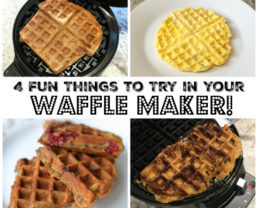 4 Fun Things to Try in Your Waffle Maker!