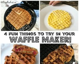 4 Fun Things to Try in your Waffle Maker on 100 Days of Real Food