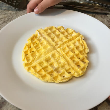4 Things to Try in a Waffle Maker - Scrambled Eggs - on 100 Days of Real Food