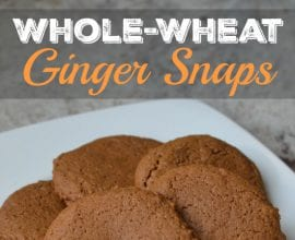 Ginger Snaps on 100 Days of Real Food