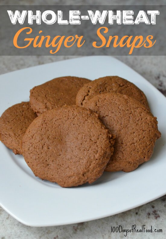 Whole-Wheat Ginger Snaps on 100 Days of Real Food