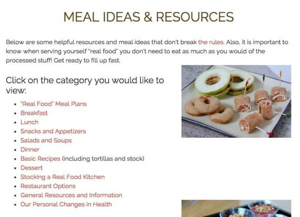 Top Posts of 2016 - Meal Ideas & Resources on 100 Days of Real Food