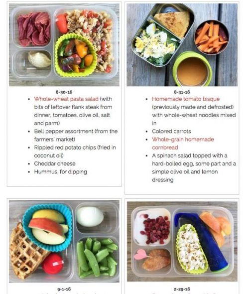 Top Posts of 2016 - School Lunch Ideas on 100 Days of Real Food