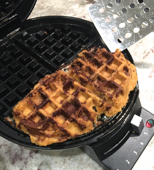 4 Fun Things to Try in your Waffle Maker - Cookie Dough - on 100 Days of Real Food
