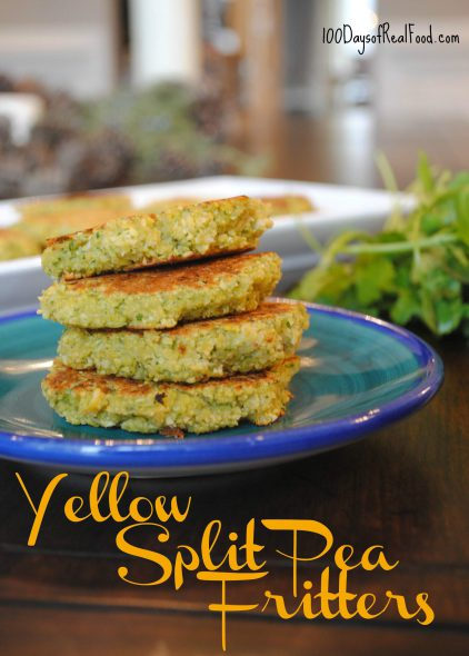 Yellow Split Pea Fritters on 100 Days of Real Food