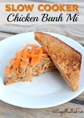 Slow Cooker Chicken Banh Mi