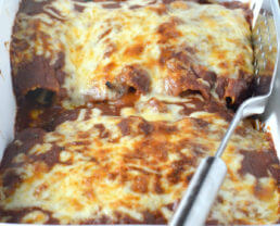 Bell Pepper and Portabella Vegetarian Enchiladas