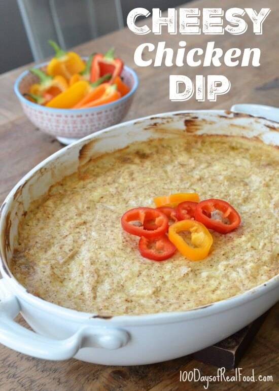 Cheesy Chicken Dip on 100 Days of Real Food