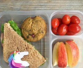 packed school lunch